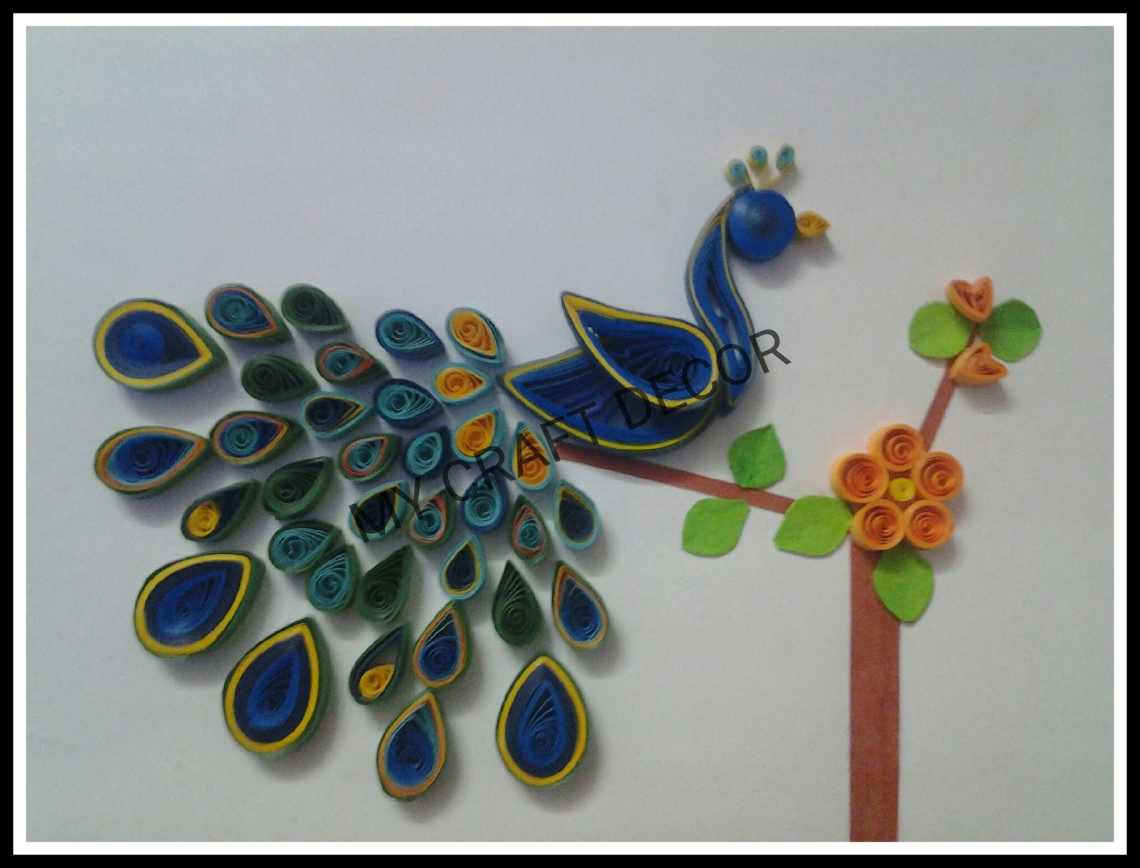 Craft Decor Quilling Peacock
