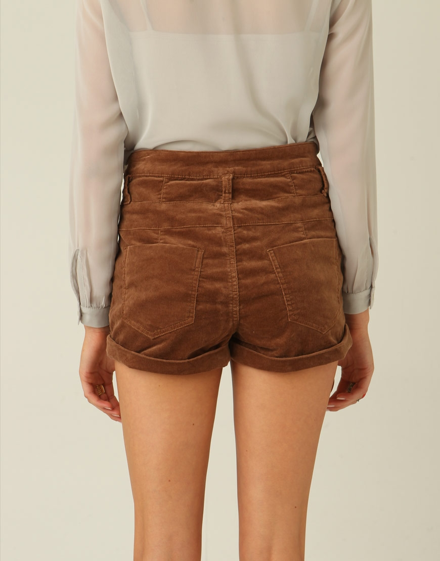 Pockets: Cord High Waist Shorts (SOLD OUT)