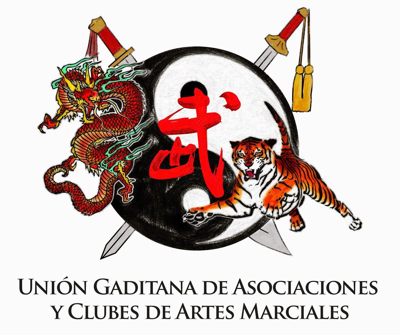 Escudo de la Unión Gaditana de Asociaciones y Clubes de Artes Marciales