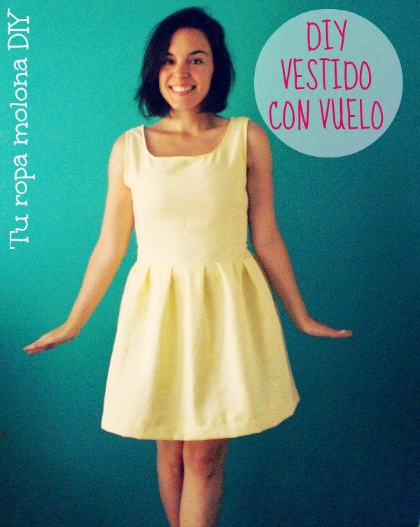 DIY VESTIDO CON VUELO