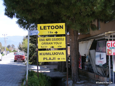 Directions To Letoon & Kumluova Beach