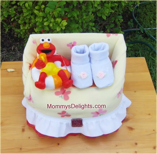 diaper cakes and baby shower gifts elmo diaper cake chair
