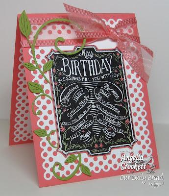 "ODBD ""Chalkboard - Birthday"" Designer Angie Crockett"