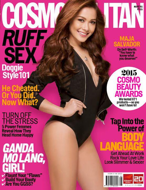 Actress, Model @ Maja Salvador - Cosmopolitan Philippines, August 2015