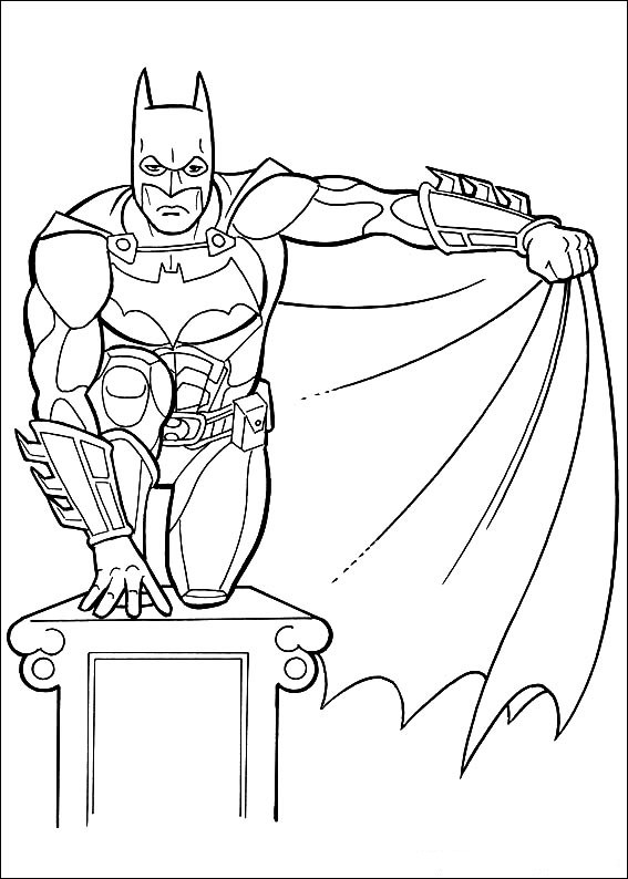 Click To Print Batman Running With Cape Coloring Book Page