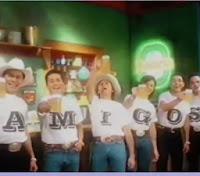 """Propaganda da Cerveja Bavaria """"Amigos"""" - Leandro e Leonardo, Chitãozinho e Xororó e Zezé di Camargo e Luciano em 1997"""