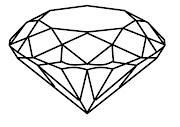 I really like this digital drawing i created of a diamond from an angled .