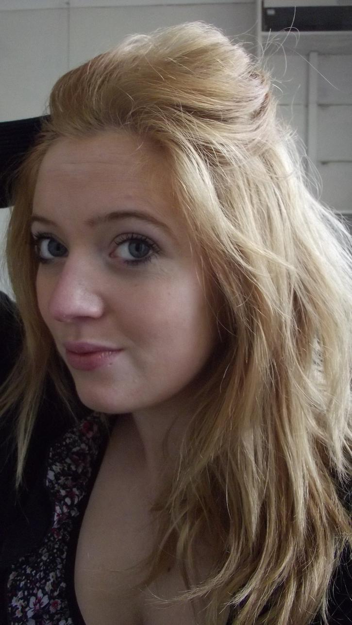 My hair originally (last week) was a dark, gingery blonde.