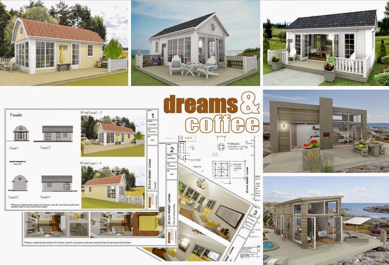 """Den vita drömgården: nu kan du köpa ritningar på """"mina"""" attefallshus"""