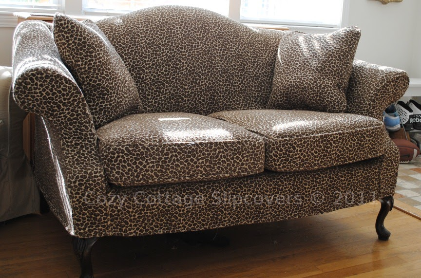 Cozy Cottage Slipcovers Animal Print Slipcover