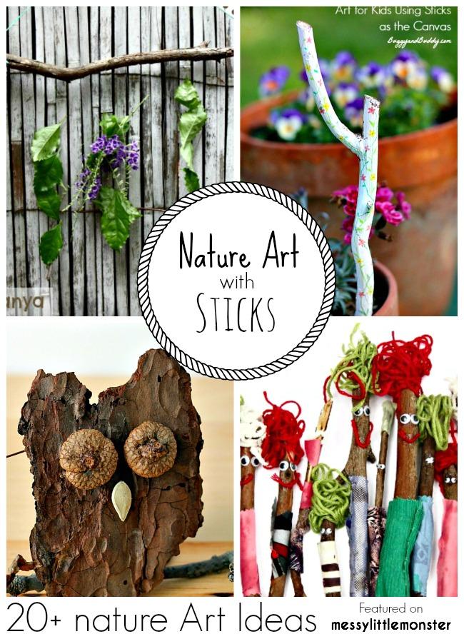 Nature Art & Craft Ideas for Kids using Sticks