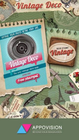 تطبيق مجاني لتحرير وتزين وتجميل الصور للأيفون والايباد وأنظمة Vintage Deco 1.7.1 IPA-iOS
