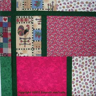 corner of Fat Quarter Big Block quilt top