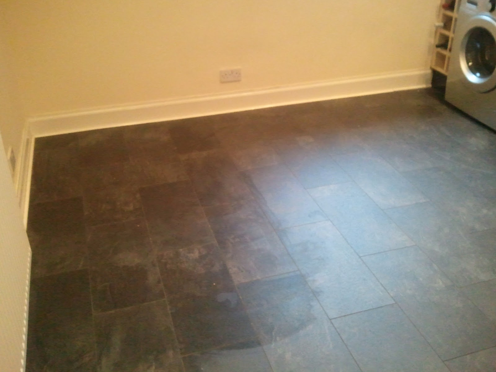 Kitchen Floor Tiles Bq Lemax Flooring Updates Kitchen Floor Installed With Bq Black