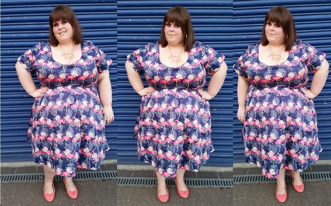 Wannabe Princess: plus size flamingo dress