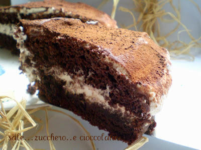 torta al cioccolato senza uova...con crema al mascarpone..