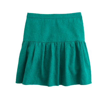 Matelassé Drop-Waist Skirt