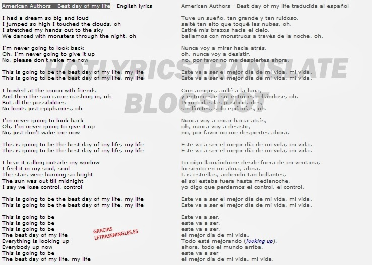 letra de la cancion beautiful day de: