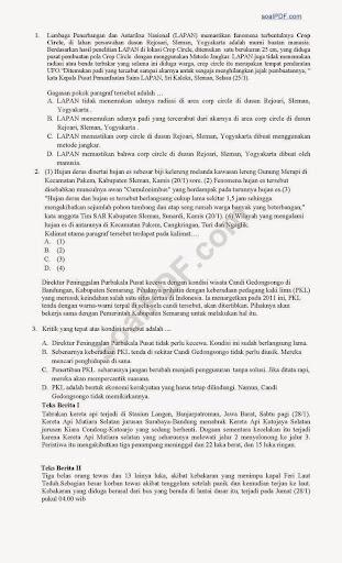 Soal Latihan UN SMP – IPA, Matematika, Indonesia, Inggris