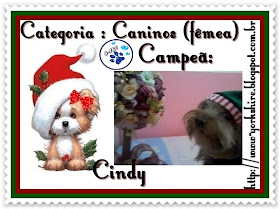 Selinho de campeã do concurso de natal do Blog Gam Pet e Cats!