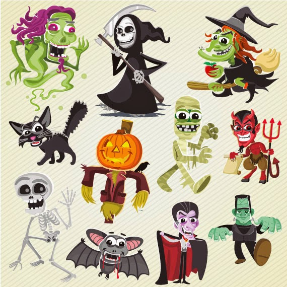 Personajes Cartoon de Halloween