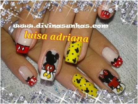 UNHAS DECORADAS DO MICKEY COM A DESIGNER LUISA ADRIANA2