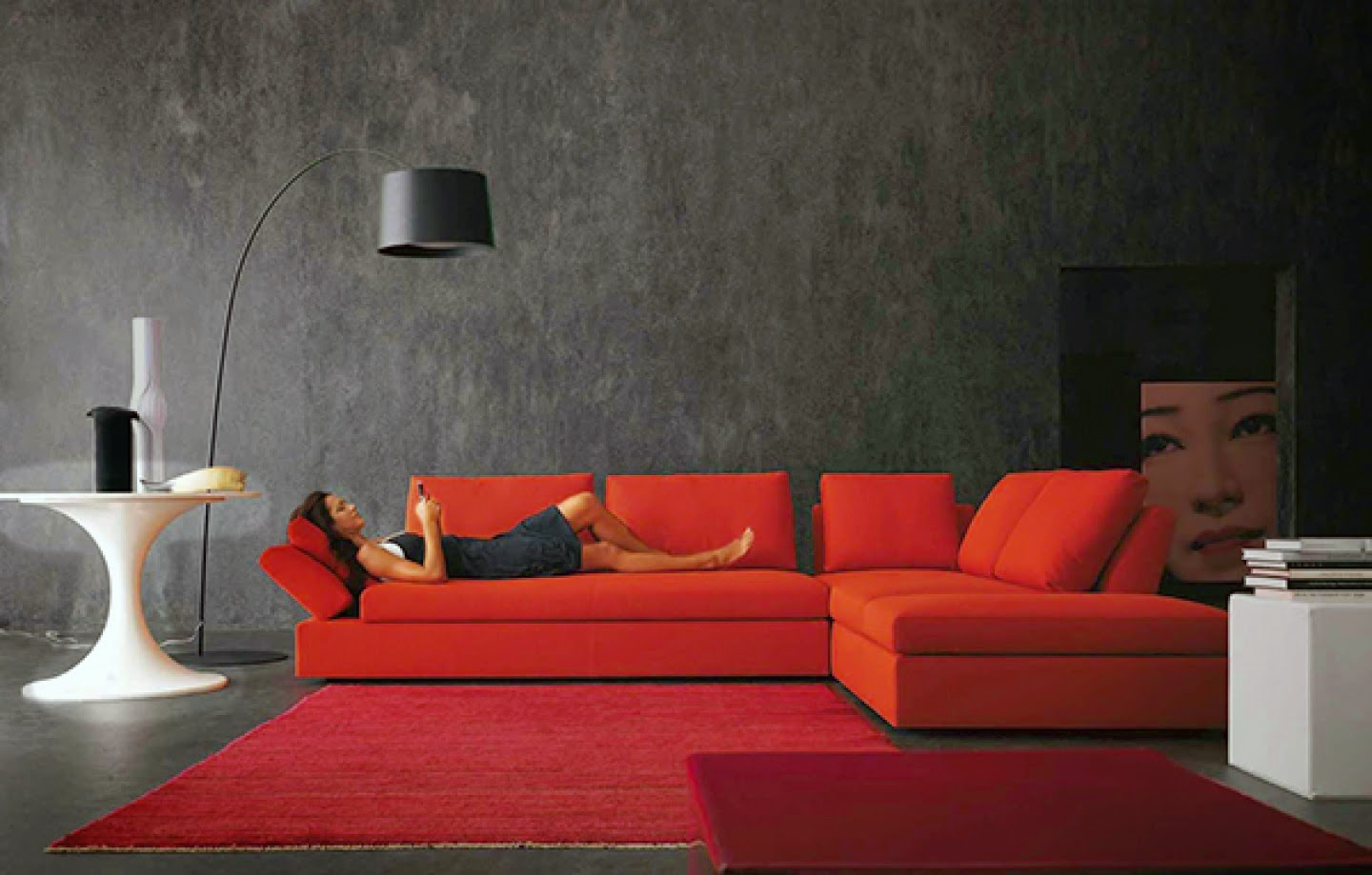 muebles x muebles decorar la sala en color rojo