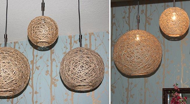 Arias restauracion objetos decorativos - Como hacer lamparas de techo artesanales ...