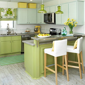 Green Kitchen Cabinets Picture