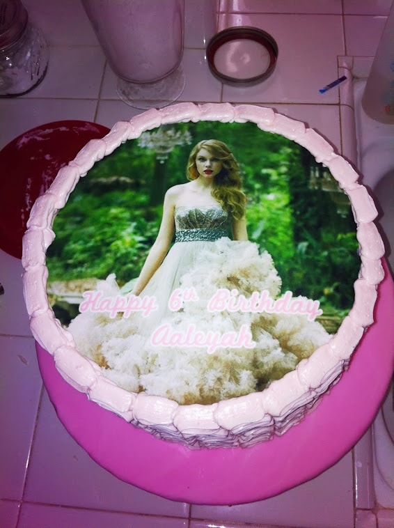TAYLOR SWIFT RIBBON CAKE