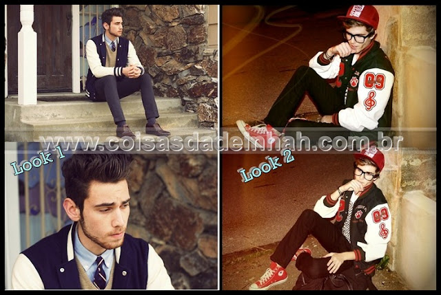 look masculino jaqueta esportiva preppy teen adolescente