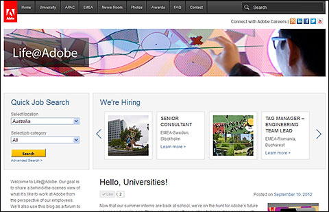 Job search at Life@Adobe