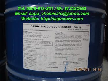 Diethylene glycol / DEG / trợ nghiền bột đá