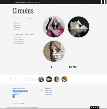 Circulos blogger template. blogspot template for photography blogs