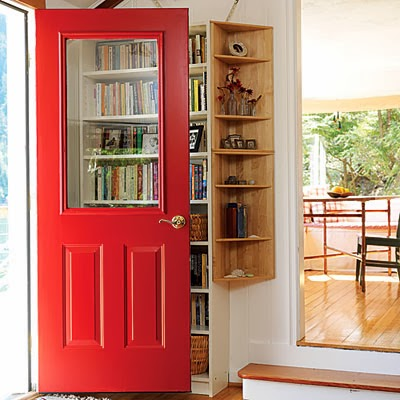 red front doors. an awesome example of how a red front door can help your interiors as well Red Front Doors  The Feng Shui Cliche for Reason Katie Rogers