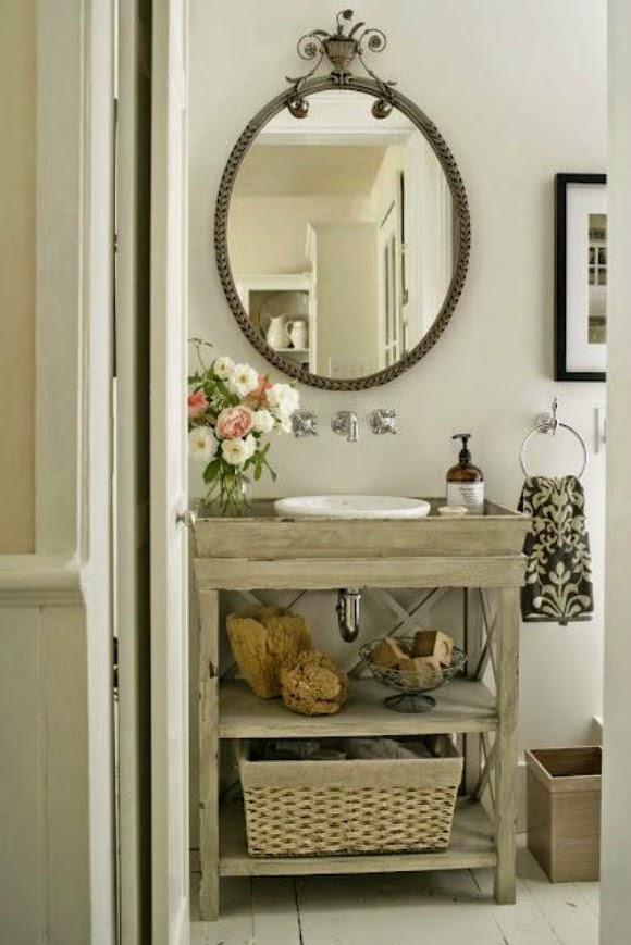 baño espejo vintage