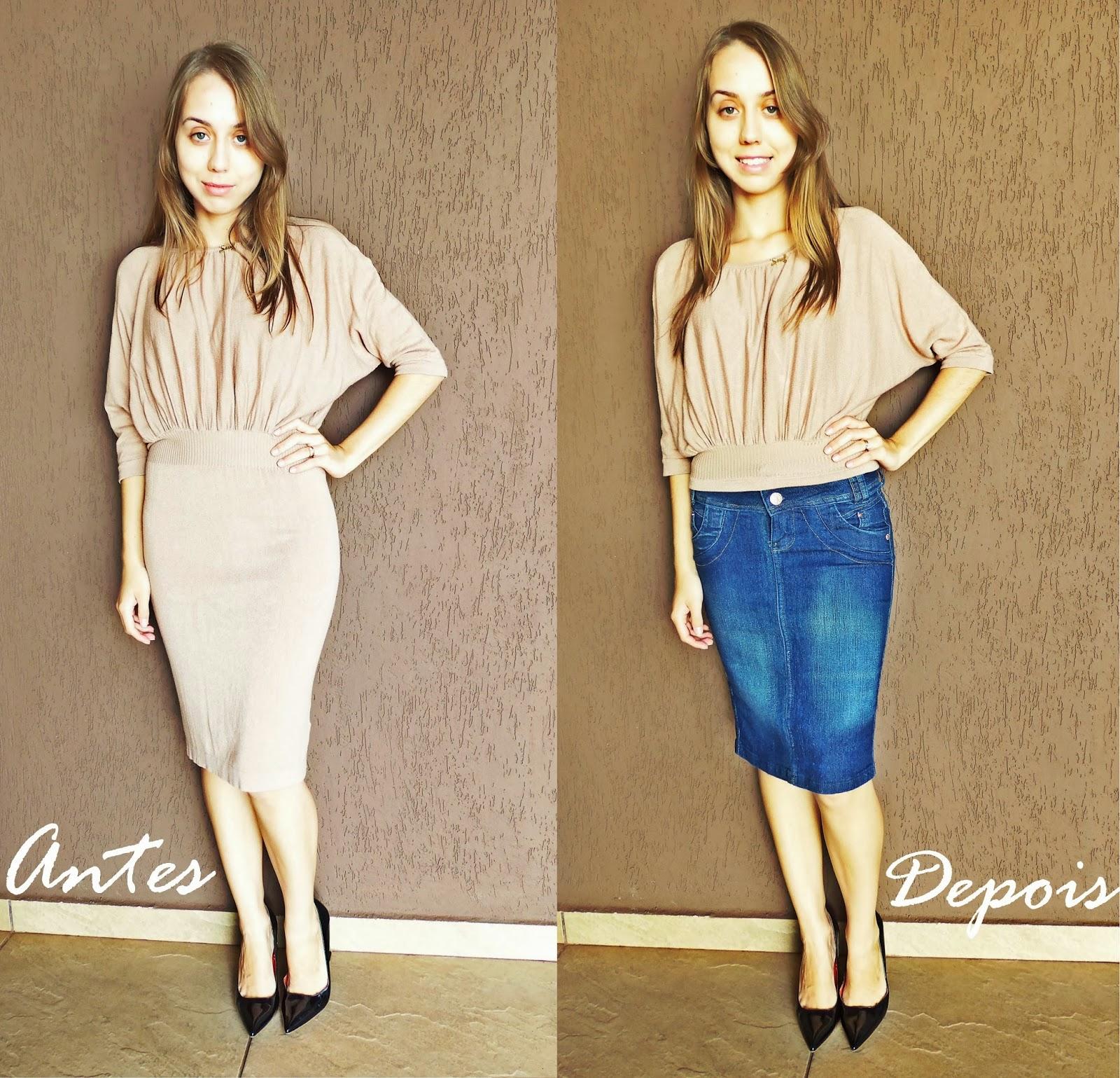 Customizando/reformando as roupas Miss Sainha Blog de moda para  #22457F 1600x1539