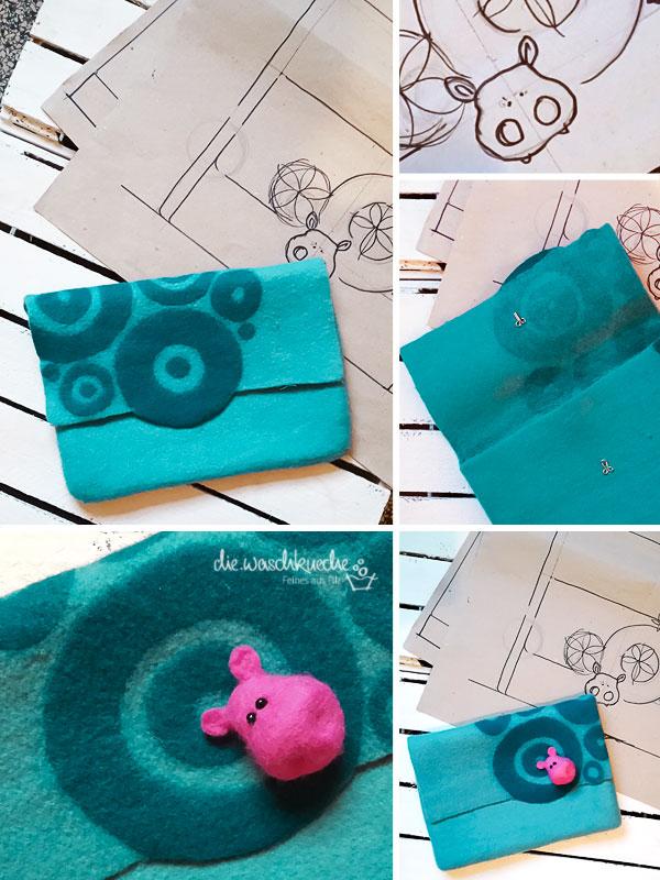 Aussergewöhnliche Notebooktasche aus Filz für Nilpferd - Fans