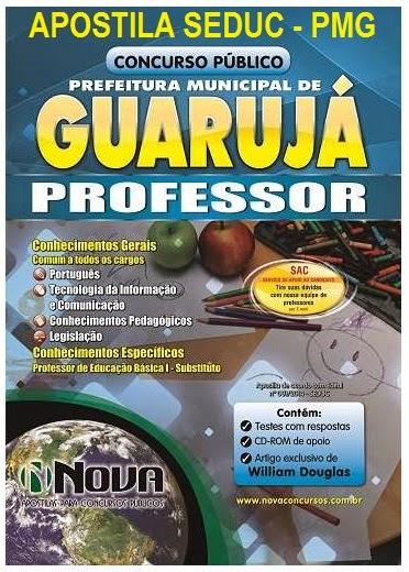 Apostila Concurso SEDUC Prefeitura de Guarujá para Professor - Edital PMG 2014