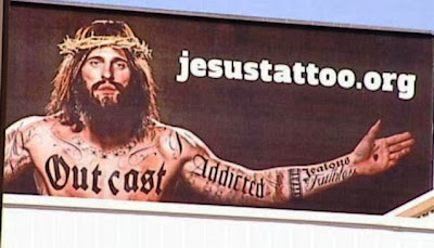 Jesus tattoo billboard