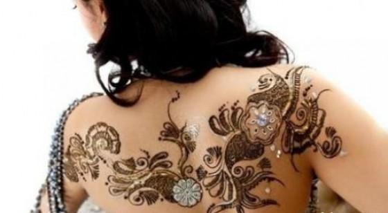 Stylish Mehndi Tattoo Pattern For Women