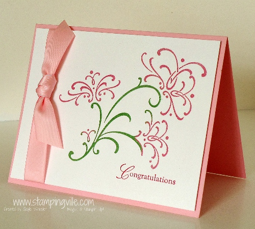 Bright Embossed Wedding Congratulations Card