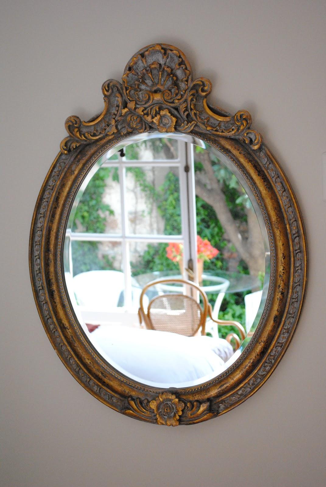 Paz montealegre decoraci n espejo coronaci n ovalados for Espejos dorados ovalados