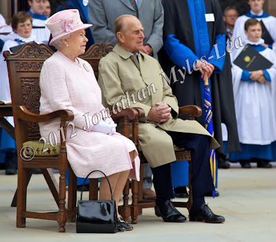 HM The Queen & HRH The Duke of Edinburgh at Hereford Cathedral. Photo © Jonathan Myles-Lea
