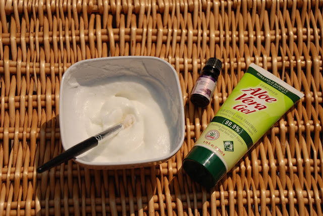 image of ingredients for home made face mask