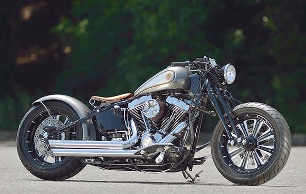 Racing Caf U00e8  Harley Flstf By Zero Design Works