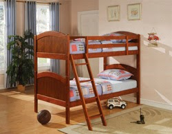 Vintage A twin over twin bunk bed is a popular configuration among children It takes up the least amount of space and is ideal for acmodating two children