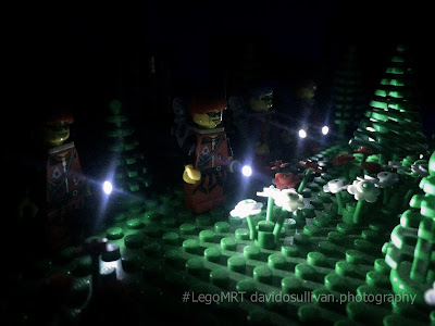 Lego Mountain Rescue Team. Night Search