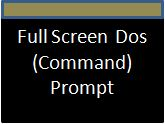Get full screen dos command prompt in window 7 vista 8
