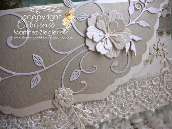 wedding envelope detail front